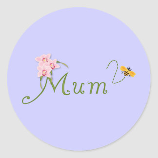 Orchid Mum To Be Classic Round Sticker