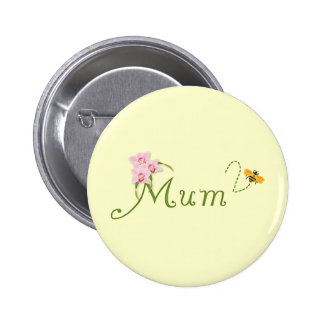 Orchid Mum To Be Pinback Button