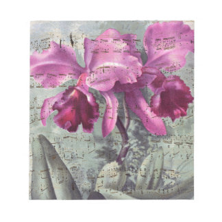 Orchid Music Notepad