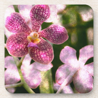 Orchid Mystery gloss coasters