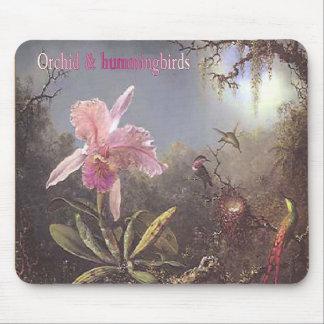 Orchid-n-hummingbirds mousepad