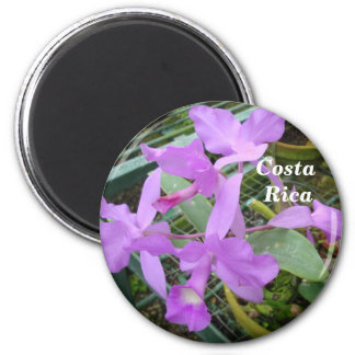 Orchid -- National Flower of Costa Rica 2 Inch Round Magnet