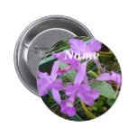 Orchid -- National Flower of Costa Rica, Name Tag Pins