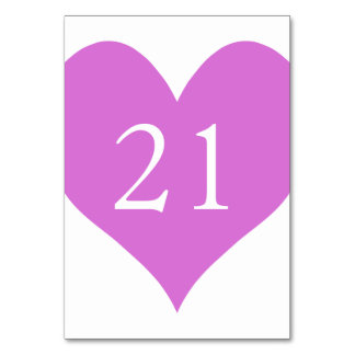 Orchid Numbered Heart Card