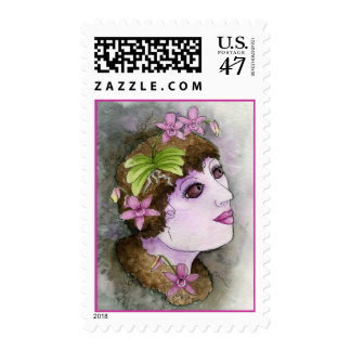 Orchid Nymph Postage Stamp