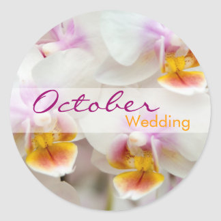 Orchid • October Wedding Sticker