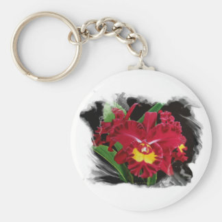 Orchid Oil on Canvas Key Chain 2