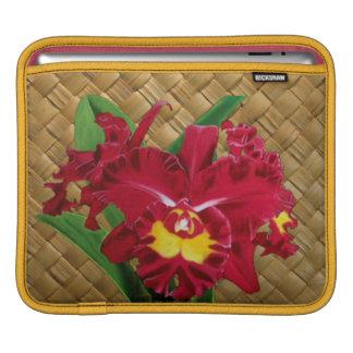 Orchid Oil on Canvas Rickshaw Sleeve iPad Sleeve