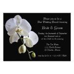 Orchid on Black Post Wedding Brunch Invitation