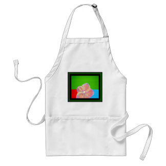 Orchid on Porch abstract painting pink flower Adult Apron