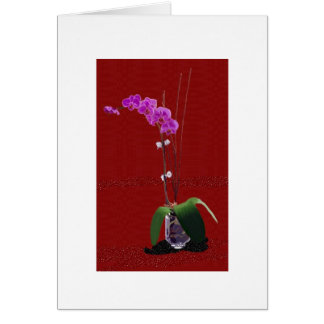 Orchid on Red Card
