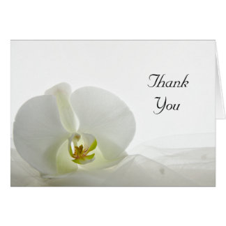 Orchid on White Wedding Bridesmaid Thank You Card
