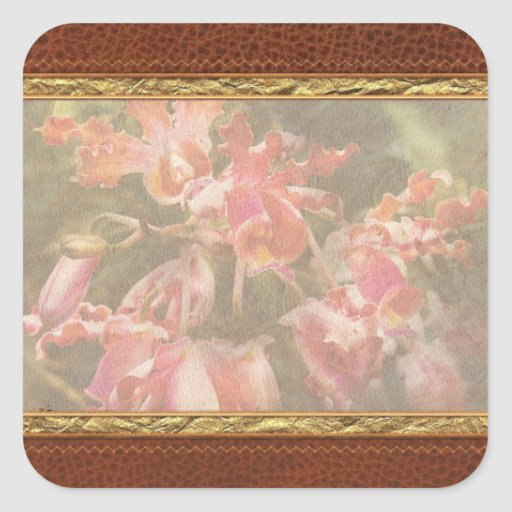 Orchid - Oncidium Orchid - Eye Candy Square Stickers