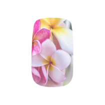 orchid, opal Hawaiian flower   nail art