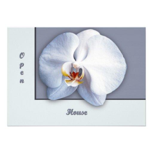 Orchid Open House Custom Invitation