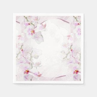 Orchid paper napkins