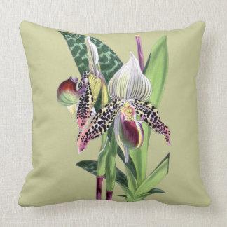 ORCHID (Paphiopedilum Argus) Throw Pillow