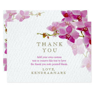 Orchid Paradise Floral Thank You Cards