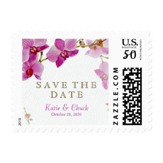 Orchid Paradise Save the Date Postage
