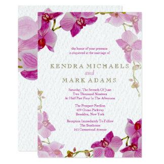 Captivating Orchid Paradise Wedding Invitations