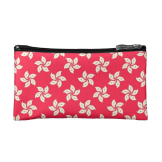 Orchid Pattern Cosmetic Bag