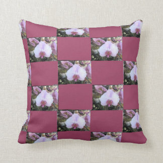Orchid Pattern Throw Pillow