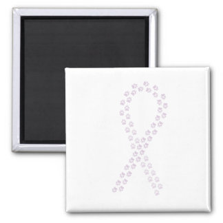 Orchid Pawprint Ribbon Magnet