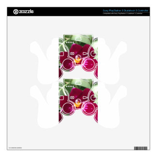 orchid Perfection and Beauty PS3 Controller Decals