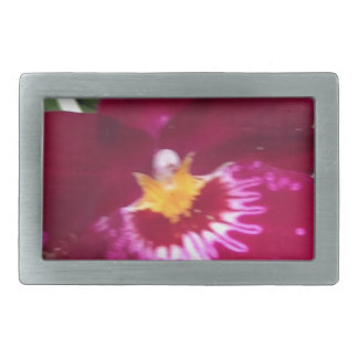 orchid Perfection and Beauty Rectangular Belt Buckle