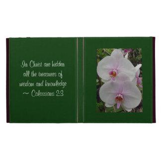Orchid - Pink Blossom (Colossians 2:3) iPad Folio Case