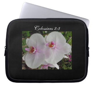 Orchid - Pink Blossom (Colossians 2:3) Laptop Sleeve