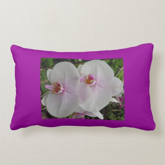 Orchid - Pink Blossom (Colossians 2:3) Lumbar Pillow