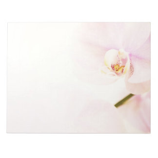Orchid  - Pink High Key Flower - Floral Template Notepad