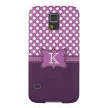 Orchid Polka Dot Monogram Samsung Galaxy S45 Case Galaxy S5 Cover