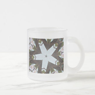 Orchid Prints Glass Frosted Mug