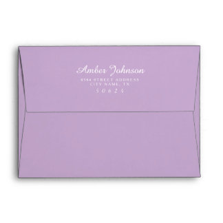 Orchid Purple 5 x 7 Pre-Addressed Envelopes