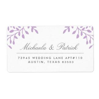Orchid Purple Address Labels
