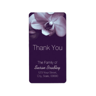 Orchid Purple Elegant Thank You Label 3