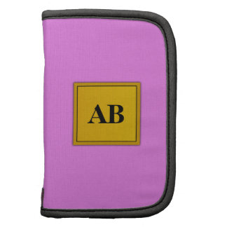 Orchid purple solid color with monogram folio planner