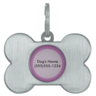 Orchid Purple template to personalize Customize Pet Tag