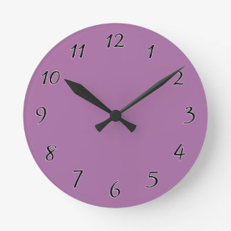 Orchid Purple template to personalize Customize Round Clock