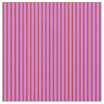 [ Thumbnail: Orchid & Red Colored Lined/Striped Pattern Fabric ]