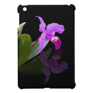 Orchid Reflected on Black Floral iPad Mini Covers