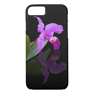 Orchid Reflected on Black Floral iPhone 7 Case