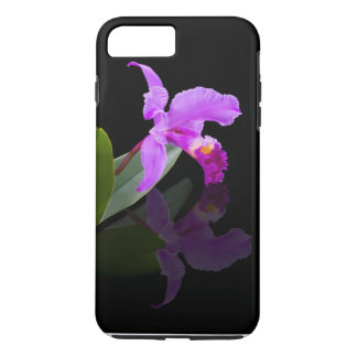 Orchid Reflected on Black Floral iPhone 7 Plus Case