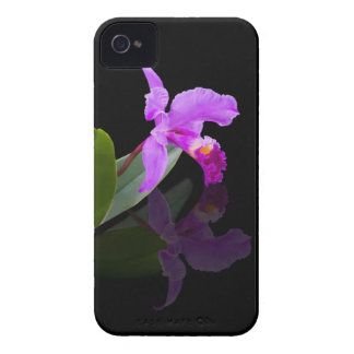 Orchid Reflected on Black IPhone 4 Case