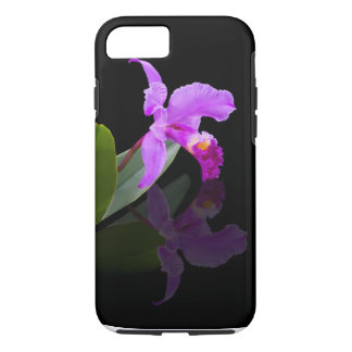 Orchid Reflected on Black iPhone 7 case