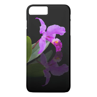 Orchid Reflected on Black iPhone 7 Plus Case
