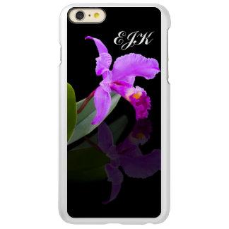 Orchid Reflected on Black, Monogram Incipio Feather Shine iPhone 6 Plus Case