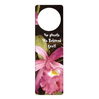 Orchid Rest! Door Hanger